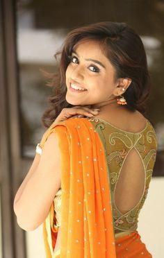Vithika Sheru with pot neck blouse                                                                                                                                                     More