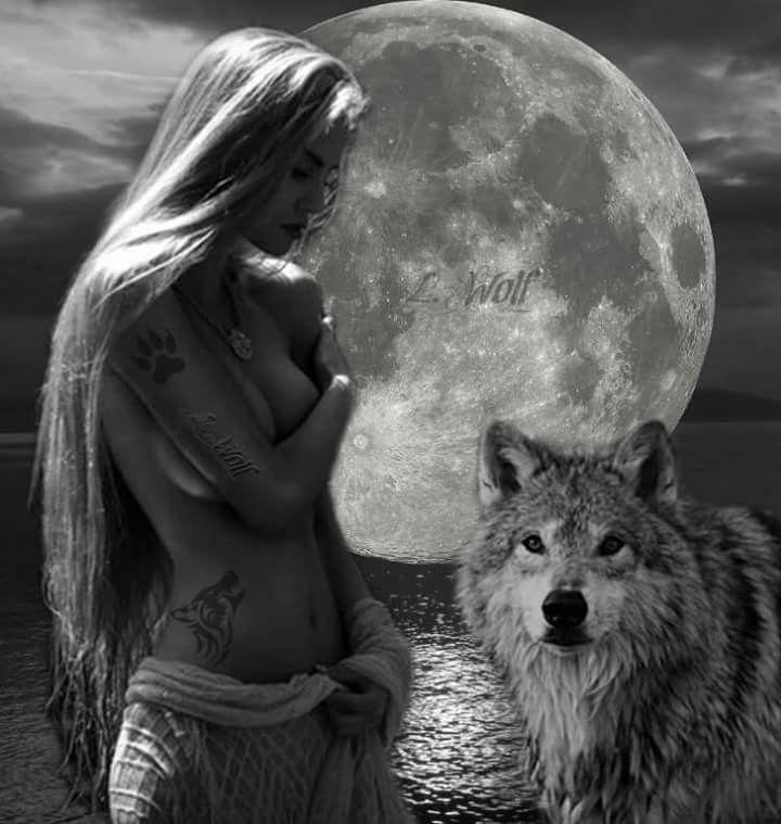 Картинка волк с девушкой волк с девушкой