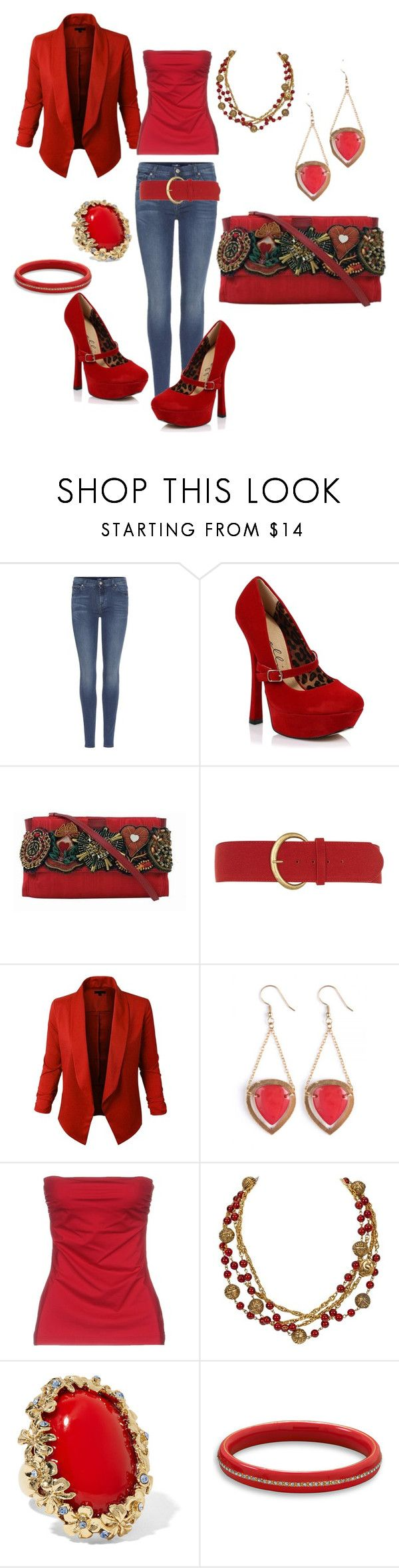 """""""Love you more"""" by lisaaucointarantino ❤ liked on Polyvore featuring 7 For All Mankind, Ellie, Moschino, Dorothy Perkins, LE3NO, Pianurastudio, Chanel, Oscar de la Renta and BillyTheTree"""