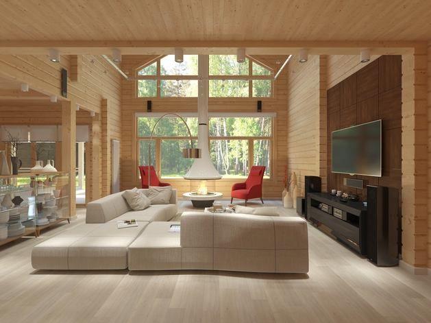 Гостиная, холл в цветах: красный, светло-серый, белый, темно-коричневый, коричневый. Гостиная, холл в стилях: минимализм, экологический стиль.