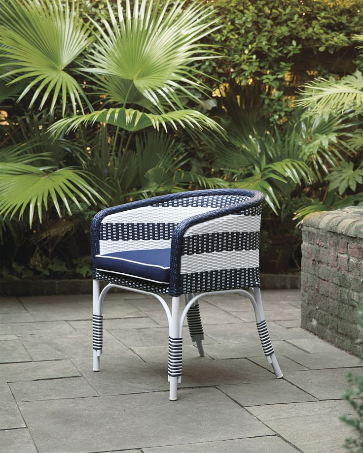 Outdoor Riviera Bucket Chair with Cushion via Serena & Lily