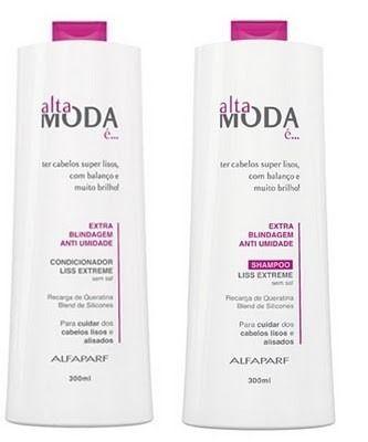 shampoo e condicionador alfaparf alta moda- extra blindag