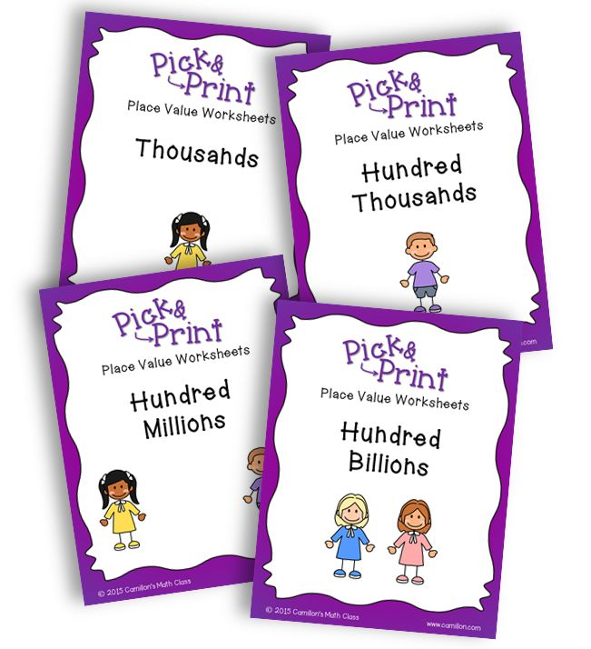 Thousands of images about .fn3c Pick & Print - Place Value ...