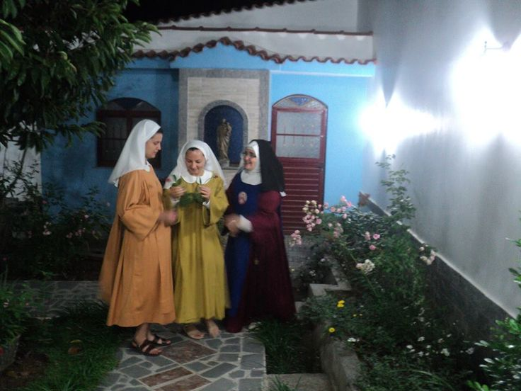 Two young postulants enter the Traditional Redemptoristine Nuns at Sao Fidelis, Brazil, Monastery of the Holy Face and the Most Pure and Sorrowful Heart of Mary