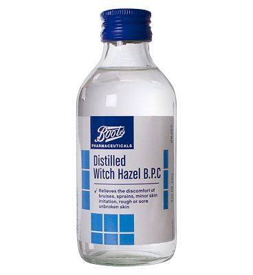Boots Pharmaceuticals Boots Distilled Witch Hazel B.P.C (200ml) 10115211 8 Advantage card points. Relieves discomfort of bruises, sprains, minor skin irritation, rough or sore unbroken skin. Suitable for: Adults and children. Active ingredients: Distilled Witch Hazel See d http://www.MightGet.com/february-2017-1/boots-pharmaceuticals-boots-distilled-witch-hazel-b-p-c-200ml-10115211.asp