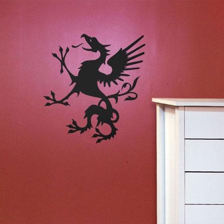 #autocollants #decalques #wallstickers #decals Griffon médiéval / Medieval Griffin.