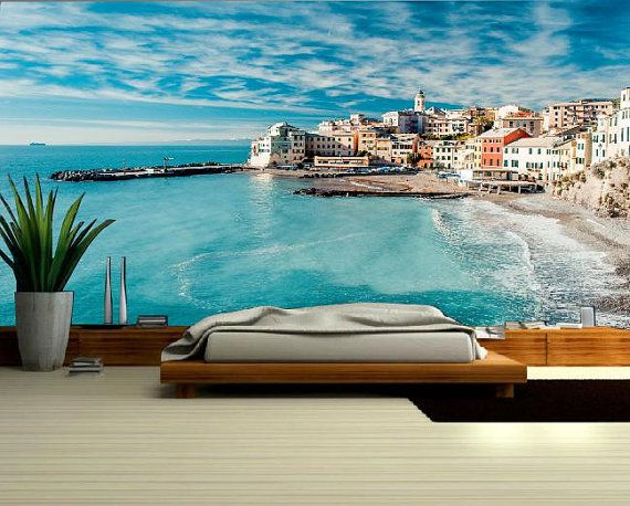 Nice Sea MURAL Wallpaper Beach Sea Wall Mural Self Adhesive Nice Ideas