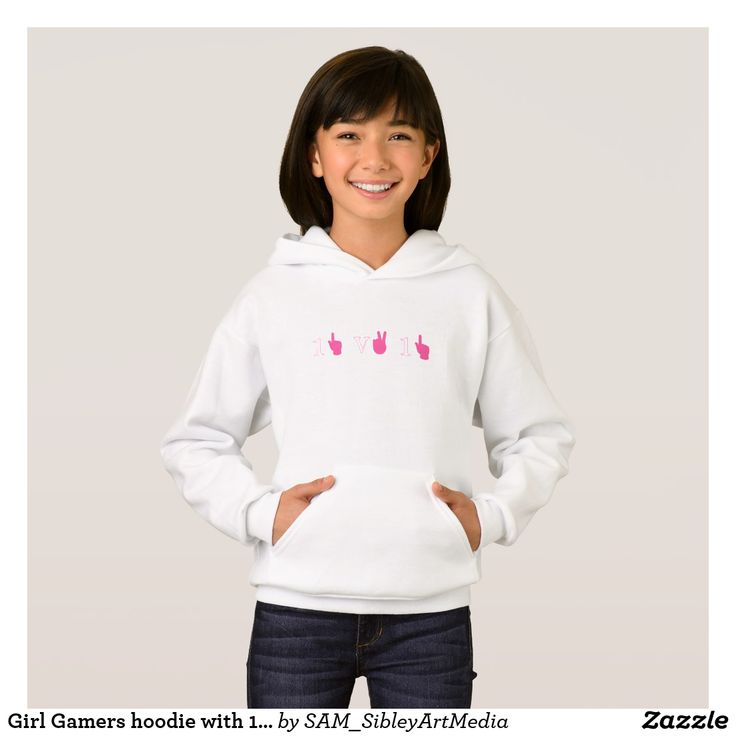 Girl Gamers hoodie with 1v1 logo xbox tag