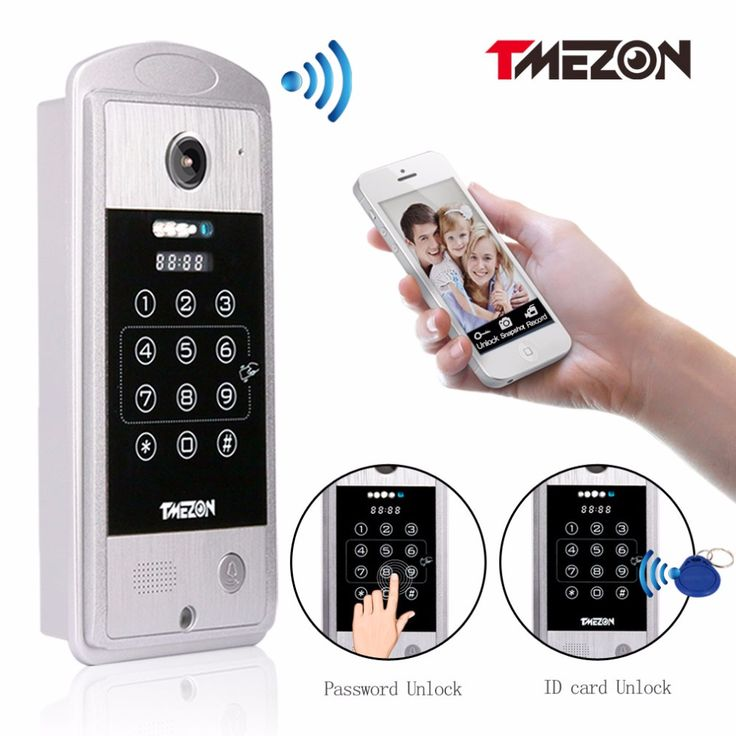 Tmezon Phone Control Wireless IP Wifi Video Door Phone Intercom HD 720P Outdoor Doorbell Camera P2P Doorphone Password RFID Card #Affiliate