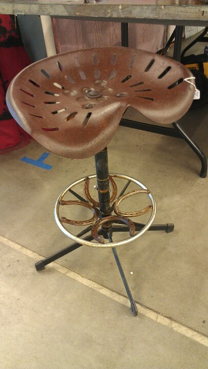 Tractor seat stool.