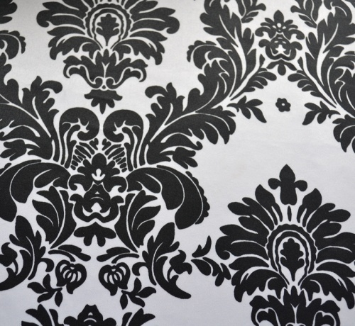 White & Black Tuxedo Damask Tablecloth Overlays, Table Runners, Chair Sashes and Napkins  www.KateRyanLinens.com  Wedding & Event Table Linen Rentals
