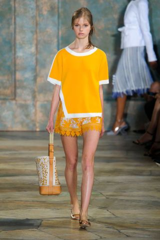 Tory Burch Spring 2016. See all the best runway looks from NYFW here: