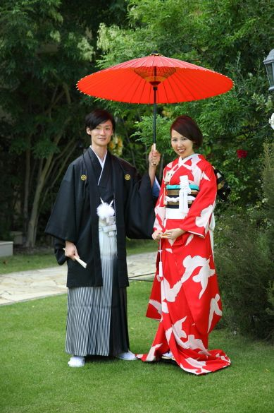Another one from Soreiyu, vintage kimono rental outfit. This was worn at the couple's wedding reception.