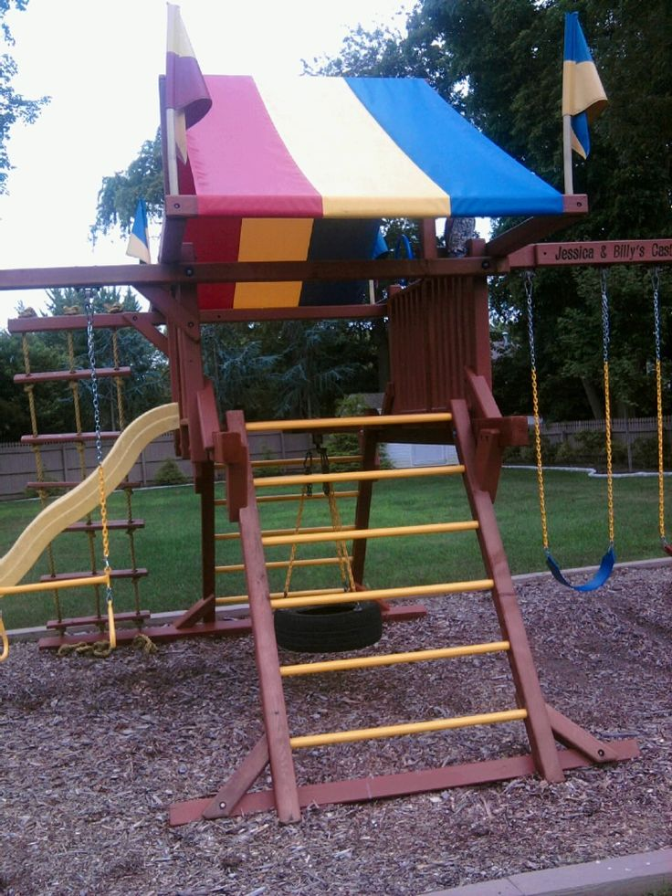 Redwood Swing Set Rehab & 9 best Rainbow swing set images on Pinterest | Swings Outdoor ...