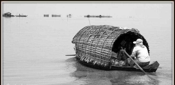 Floating village. Cambodia.