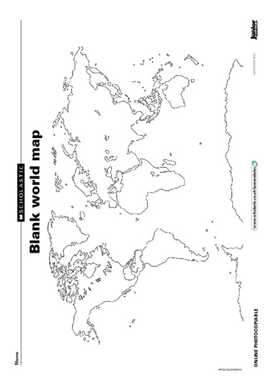 Blank world map 2nd grade blank world map gumiabroncs Image collections