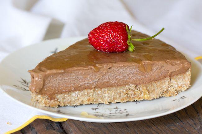Dairy Free, Gluten Free Chocolate Ice Cream Torte with Dates, Almonds, and Coconut Milk