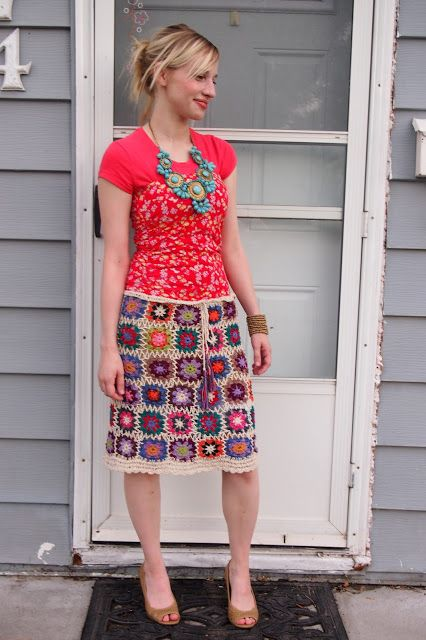 Granny Square Skirt 107