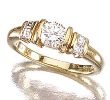 diamond ring bulgari circa centring on a diamond flanked by