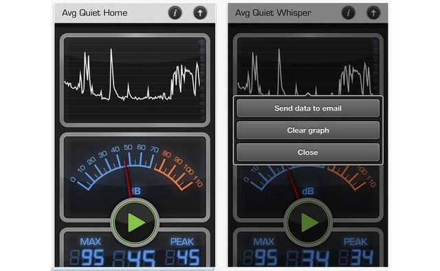 Decibel 10th, app iPhone gratuita para medir el ruido ambiental
