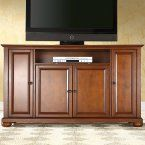Crosley Cambridge 60 in. Low Profile TV Stand - Vintage Mahogany - TV Stands at Hayneedle