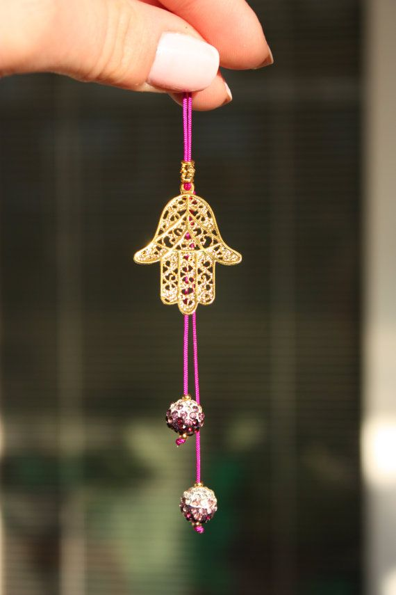 Car Accessory Rear View Mirror Charm Hanger Decor Rearview Ornament Hamsa Lucky Ideas Pinterest