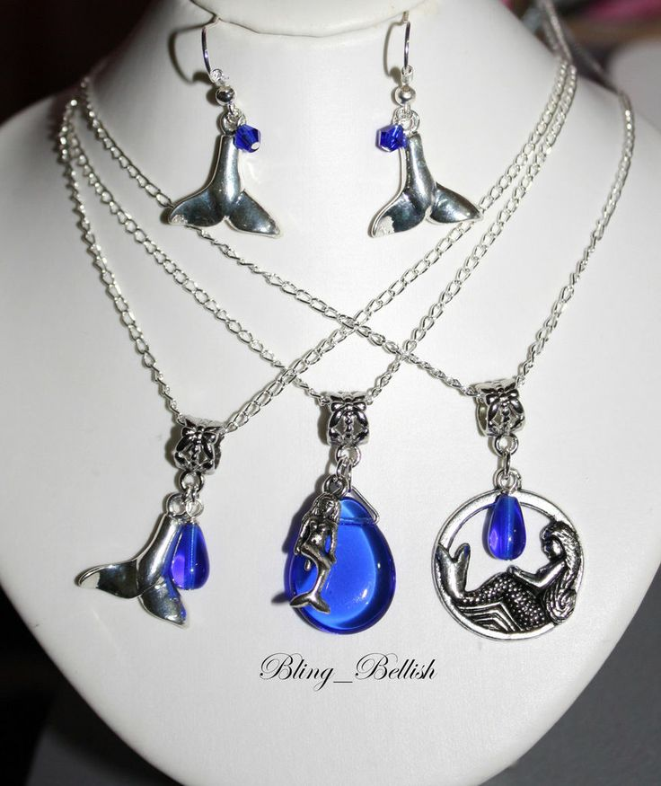 Free Gift* H2O Just Add Water Mermaid Tail Blue Crystal Pendant
