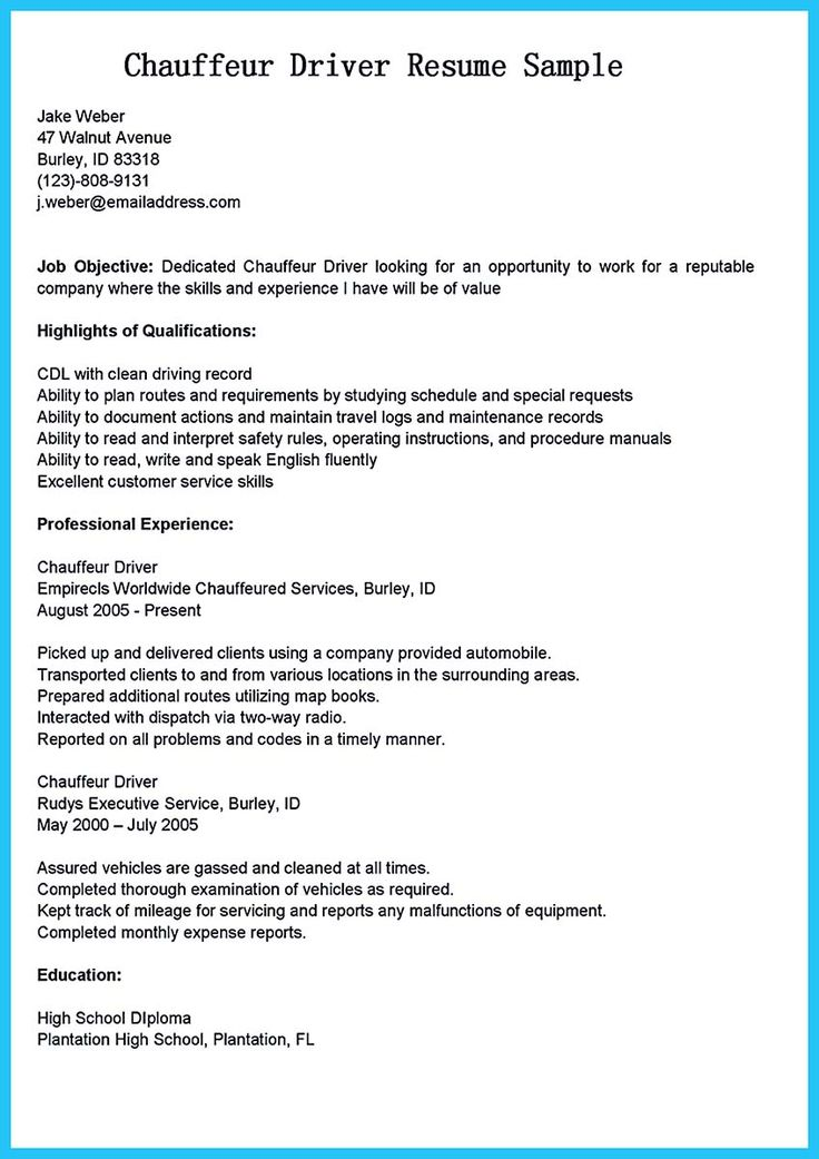 school bus driver resumes - Onwebioinnovate - school bus driver resume sample