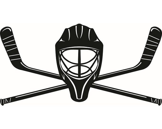 Hockey Logo 1 Mask Helmet Player Stick Mask Pads Arena Ice Team Game League School Sports Logo Svg Eps Png V Hockey Tattoo Hockey Posters Ice Hockey Sticks