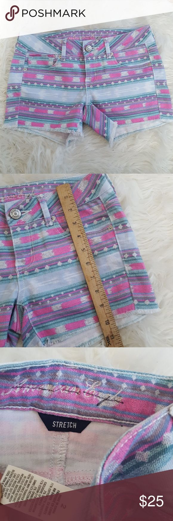 American Eagle tribal shorts size 2 American Eagle tribal shorts  Size 2 Tribal geometric print Excellent condition American Eagle Outfitters Shorts