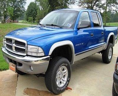 This 2001 Dodge Dakota pickup has the perfect amount of lift.