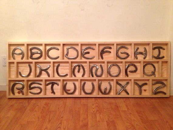 Hey, I found this really awesome Etsy listing at https://www.etsy.com/listing/124725144/horse-shoe-letters