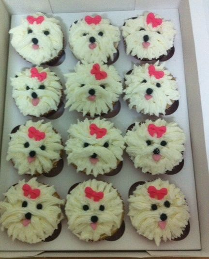 Poodle cupcakes - Tap the pin for the most adorable pawtastic fur baby apparel! You'll love the dog clothes and cat clothes! <3