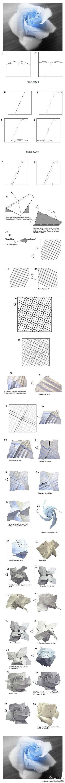 Rosas complexos origami tutorial ~ ~ experimentá-lo!