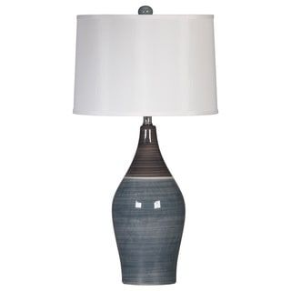 Shop For Signature Designs By Ashley Niobe Two Tone Grey Ceramic Table Lamps Set