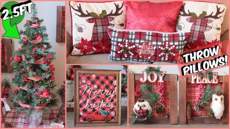 DOLLAR TREE CHRISTMAS DIYS 2018 BUFFALO CHECK DECOR