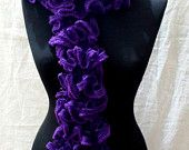 Purple Ruffle Scarf Mother's Day gift Valentine's Day gift idea Accessories Gift For Her  Scarf Under 15