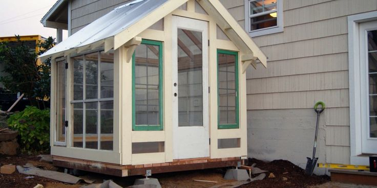 Inspired by the beautiful Craftsman homes of the 1930s Arts and Crafts movement, this Craftsman greenhouse, designed and built by Little Mansions, can be used as a studio, shed, greenhouse, or to add architectual beauty to your home and property. Each building is unique, based on the reclaimed and repurposed materials available at the time to create a vintage look while enjoying the benefits of modern materials.
