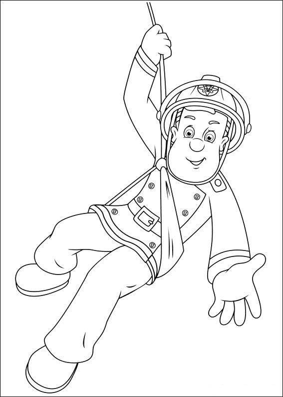 Brandweerman Sam Kleurplaten voor kinderen. Kleurplaat en afdrukken tekenen nº…