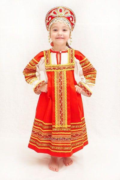 Русский народный костюм для девочки 7-9 лет..