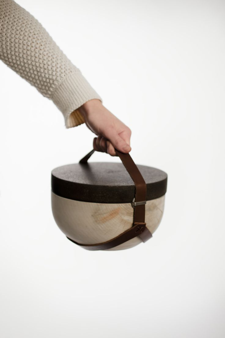 Made from Icelandic wood and lava stone