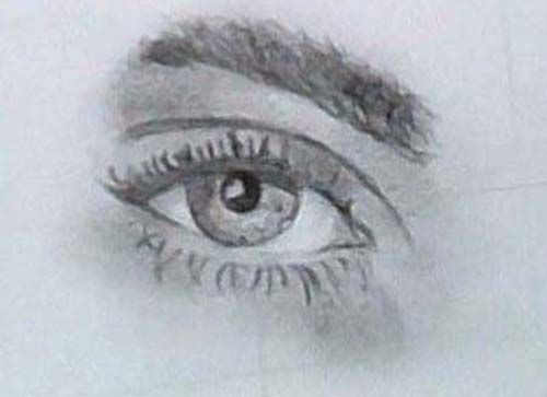 Cara's Eye - Pencil.