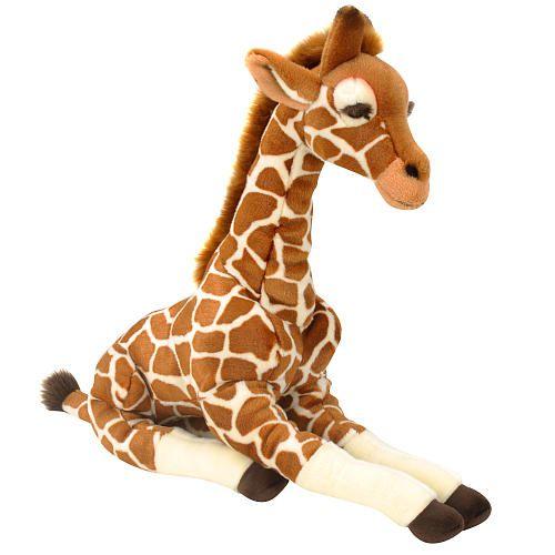 Fao schwarz inch plush giraffe brown coloring