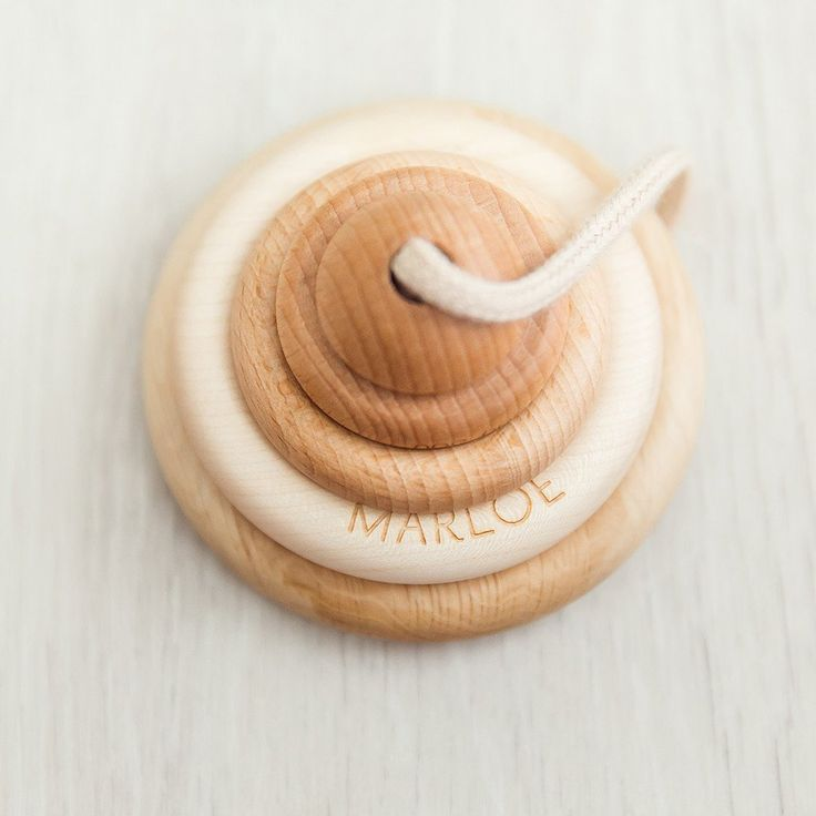 Personalised Organic Wooden Ring Stacker | noc noc wooden toys