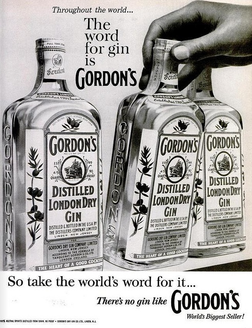 1960 Vintage Advert - Gordons Gin, via Flickr.