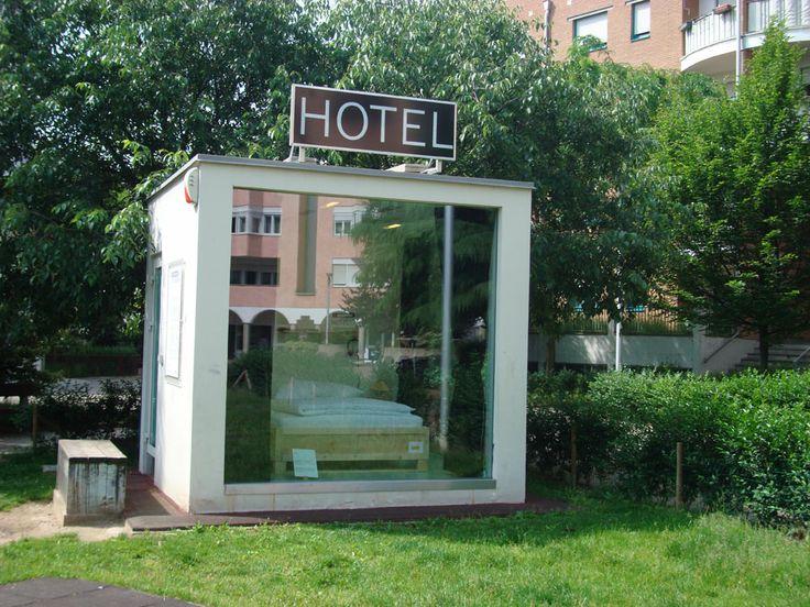 """basil green pencil: Cubo Garutti by Alberto Garutti becomes """"Hotel Cubo"""""""