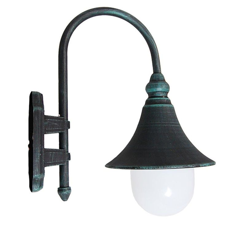 Modello Collection Verde Green Exterior Outdoor Lantern Light with Safe White Polycarbonate, Wall