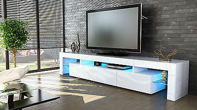 Mobile tavolo porta TV moderno laccato lucido salotto soggiorno sala da pranzo