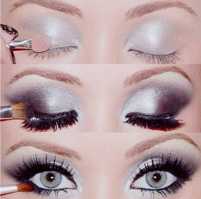 Love the silver smoky eye - perfect for a night out!!!