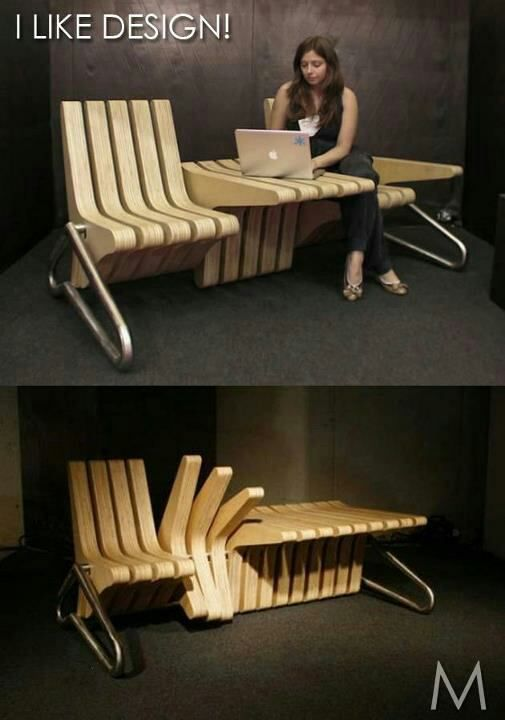 Chair, Table, Bench...all in one!